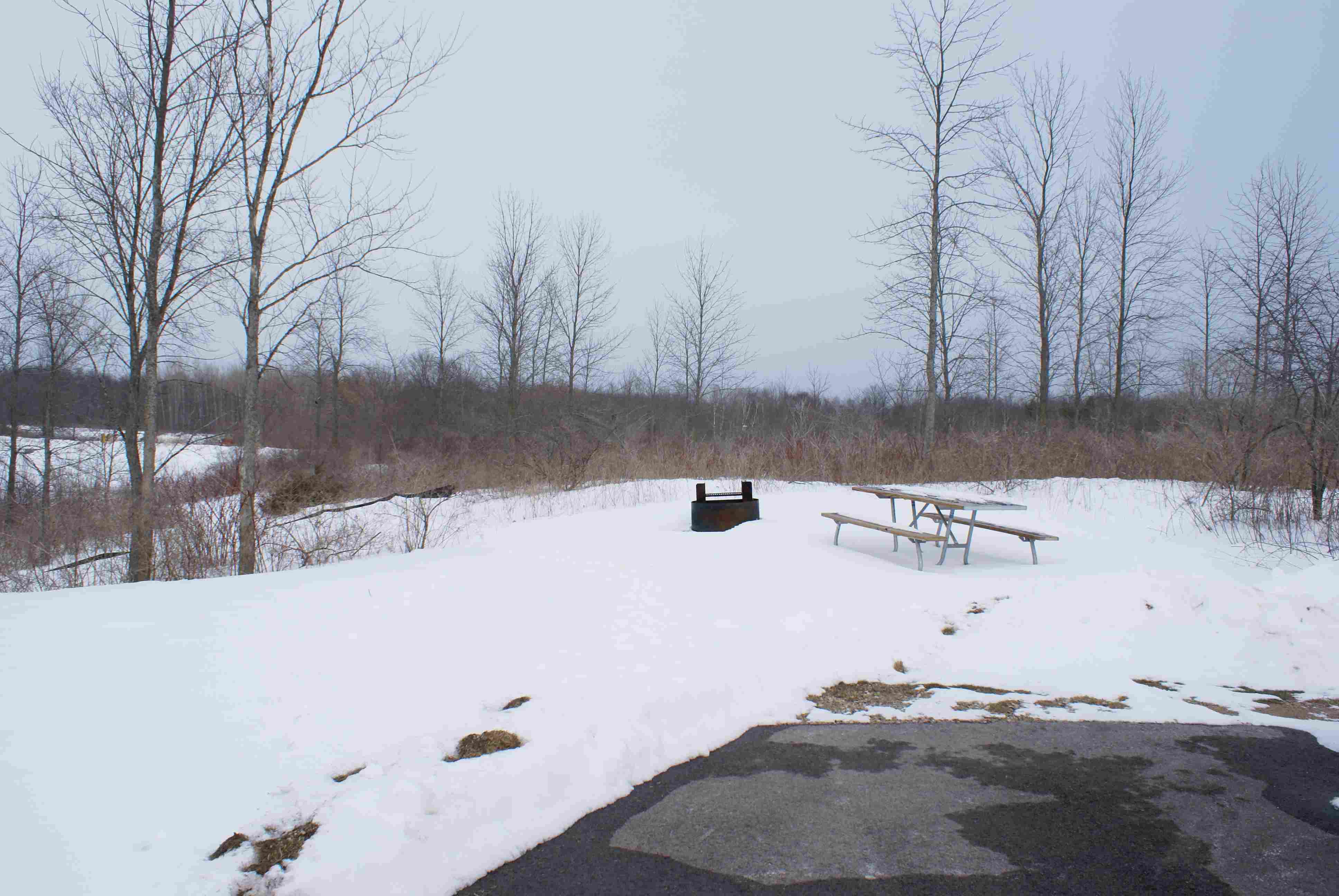Harrington Beach State Park Campground Wisconsin in winter