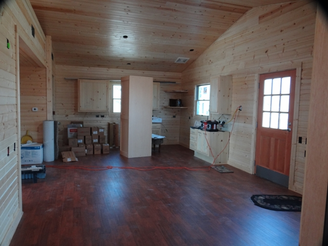 Harrington Beach State Park Wisconsin Accessible Cabin Kitchen Construction