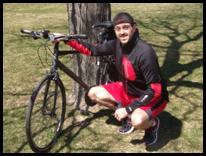 Scott by his bike