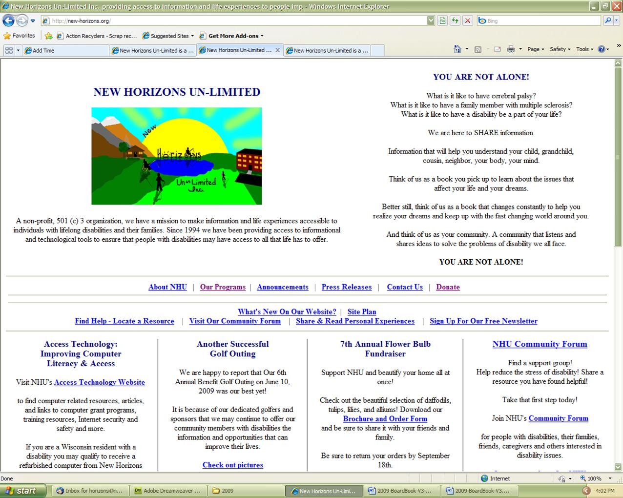 NHU Website